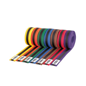Colored Belts with black stripe #3082 #3083 #3084 #3085 #3086 #3025 #3088