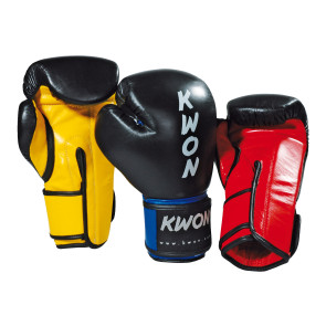 K.O. Champ Boxing Gloves #40027 Black/Yellow, #40028 Black/Red, #40034 Black/Blue