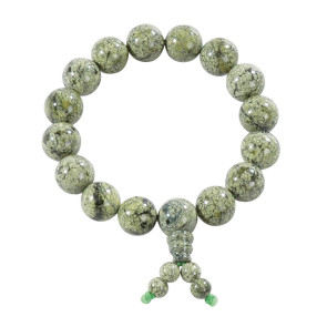 Shaolin Bracelet Green Stone #5013525