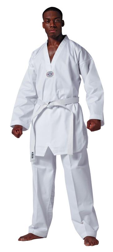HADAN Student Uniform; white v-neck #51003