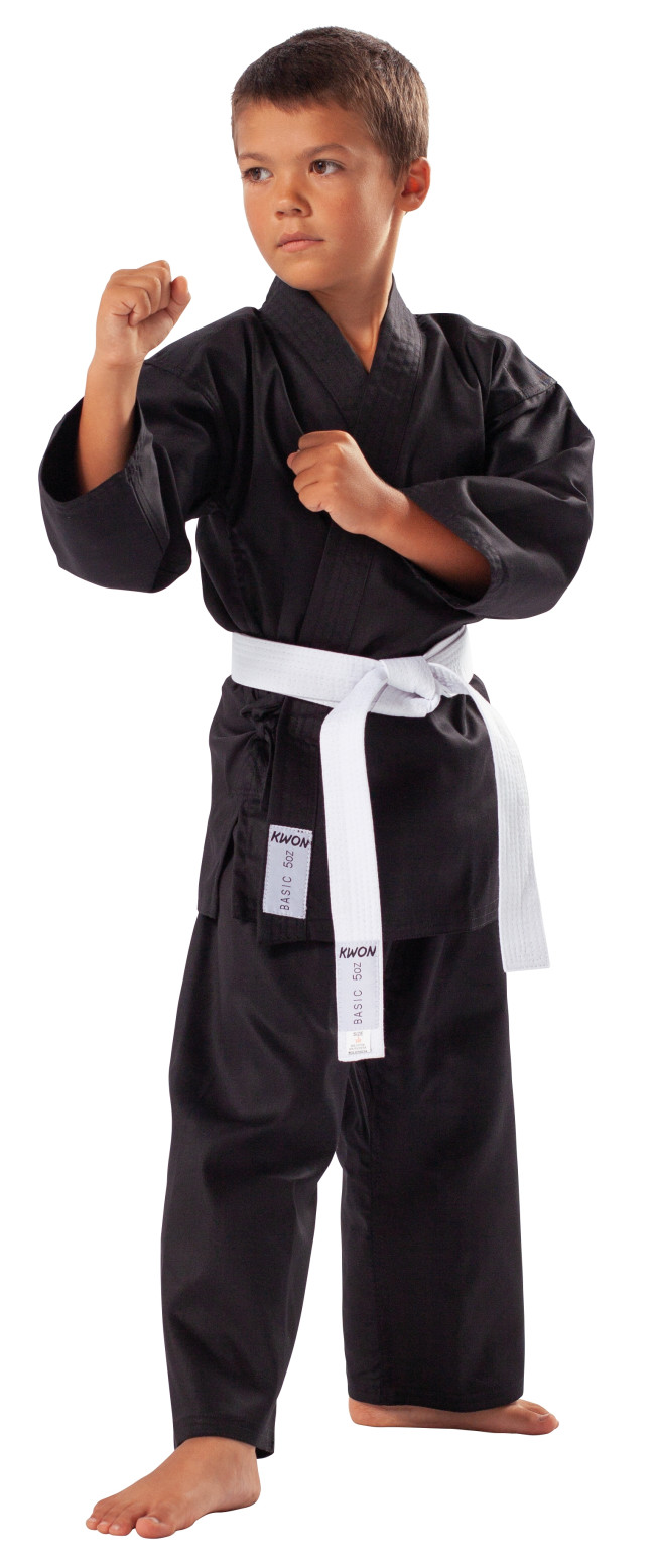 Karate Negro Mediana Peso 210g Uniforme