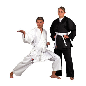 ADVANCE Medium Weight Karate Uniform #1002-White #1101-Black