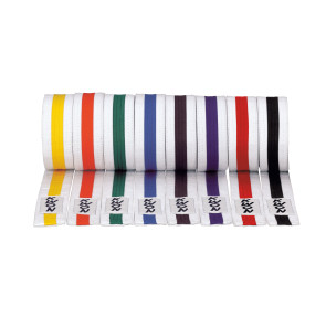 Striped White Belts #3017 #3033 #3034 #3035 #3036 #3037 #3038 #3039