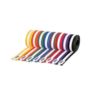 Colored Belts with white stripe #3072 #3073 #3074 #3075 #3076 #3077 #3078 #3079