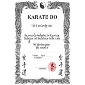 Karate-Do Certificate #5002006